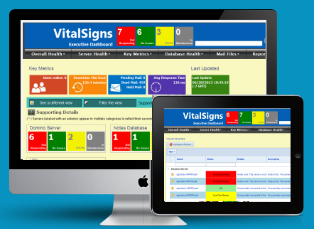 VitalSigns Plus in a browser